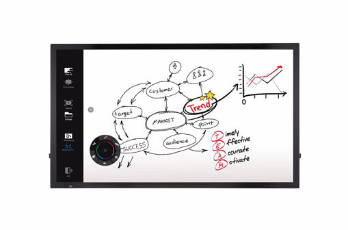 "Picture of LG 65TC3D-B interactive whiteboard 165.1 cm (65"") Touchscreen 1920 x 1080 pixels USB Black"