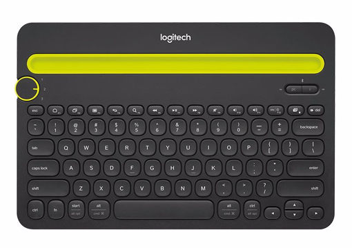 Picture of Logitech K480 mobile device keyboard Black Bluetooth