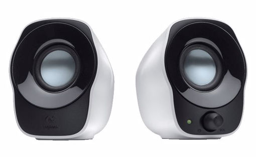 Picture of Logitech 980-000514 loudspeaker 2-way 0.6 W Black,White Wired 3.5 mm