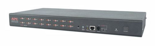 Picture of APC 16 Port Multi-Platform Analog KVM KVM switch Rack mounting Black