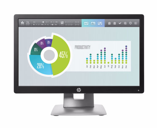 "Picture of HP EliteDisplay E202 computer monitor 50.8 cm (20"") HD+ LED Flat Black,Silver"