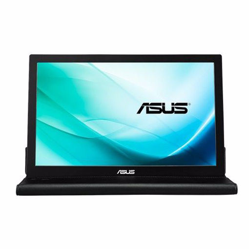 """Picture of ASUS MB169B+ computer monitor 39.6 cm (15.6"""") Full HD LED Black,Silver"""