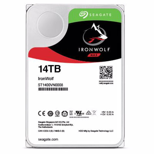 """Picture of Seagate IronWolf 3.5"""" 14000 GB Serial ATA III"""