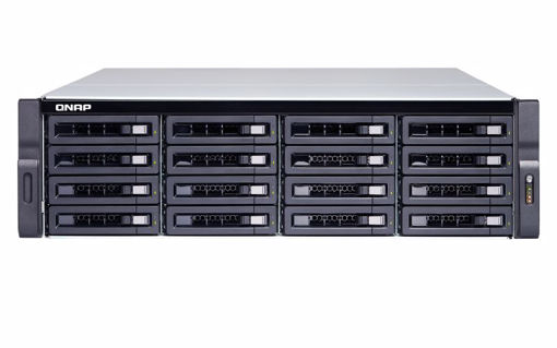 Picture of QNAP TDS-16489U R2 Ethernet LAN Rack (3U) Black,Grey NAS