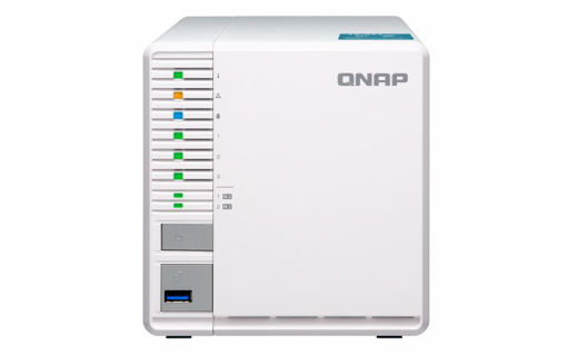 Picture of QNAP TS-351-2G, 3BAY NAS (NO DISK), CEL-J1800,2GB, NVMe M.2(0/2), GbE(1),HDMI,TWR,2YR WTY