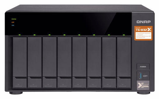 Picture of QNAP TS-832X Ethernet LAN Tower Black NAS