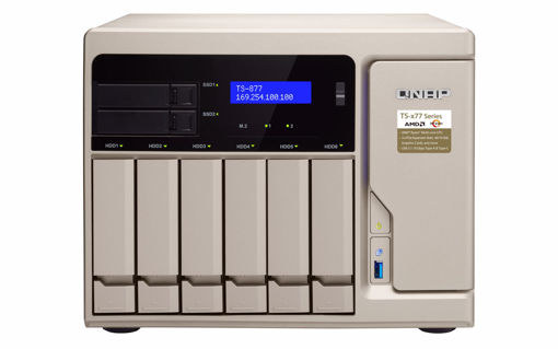 Picture of QNAP TS-877 Ethernet LAN Tower Gold NAS