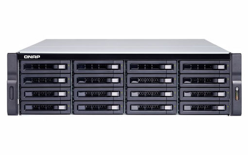 Picture of QNAP TS-1677XU-RP Ethernet LAN Rack (3U) Black NAS