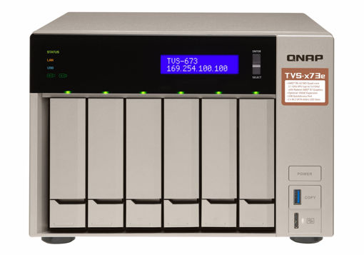 Picture of QNAP TVS-673E Ethernet LAN Tower Grey NAS