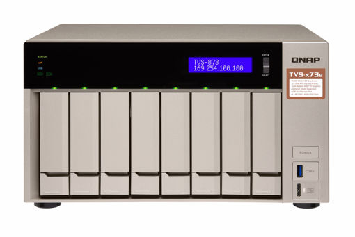 Picture of QNAP TVS-873E Ethernet LAN Tower Grey NAS