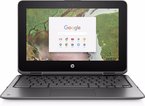 "Picture of HP Chromebook x360 11 G1 EE Black 29.5 cm (11.6"") 1366 x 768 pixels Touchscreen Intel® Celeron® N3350 8 GB LPDDR4-SDRAM 64 GB eMMC"