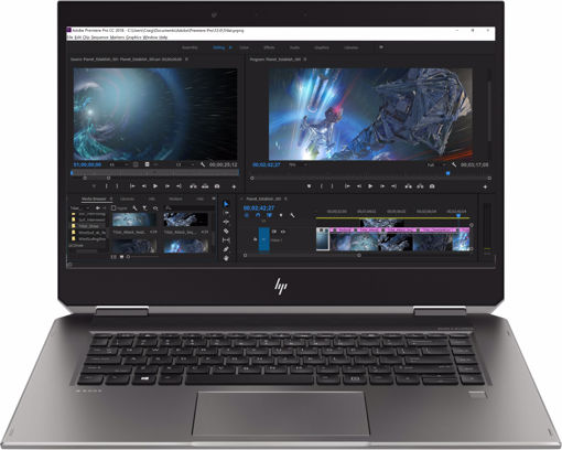 "Picture of HP ZBook Studio x360 G5 Silver Mobile workstation 39.6 cm (15.6"") 1920 x 1080 pixels Touchscreen Intel® Xeon® E-2176M 16 GB DDR4-SDRAM 512 GB SSD 3G 4G"