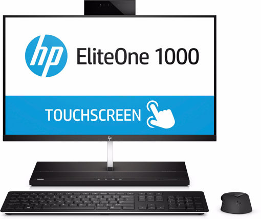 """Picture of HP EliteOne 1000 G2 60.5 cm (23.8"""") 1920 x 1080 pixels Touchscreen 8th gen Intel® Core™ i5 i5-8500T 8 GB DDR4-SDRAM 256 GB SSD Black All-in-One PC"""